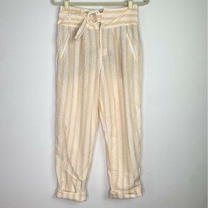 Anthropologie  Oasis Striped Pants high waisted